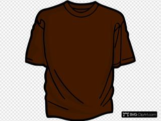 Brown T-shirt SVG Clipart