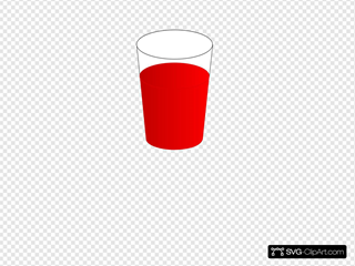 Drinking Glass, With Red Punch SVG Clipart