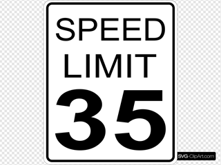 35mph Speed Limit Sign