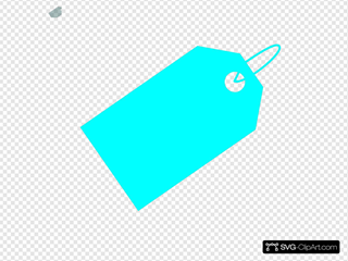 Aqua Tag Clip art, Icon and SVG - SVG Clipart