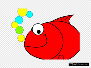 Red Smiling Goldfish SVG Clipart
