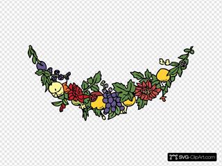 Flower And Fruit Festoon