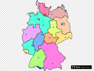 Germany Map New Color