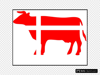 Jensen Cow Flag Sticker