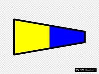 International Maritime Signal Flag 5 Clipart