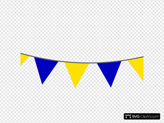 Yellow Blue Bunting