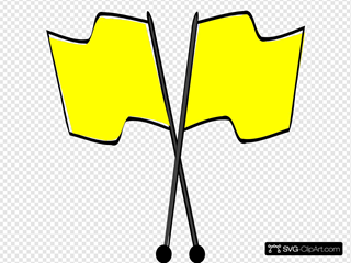 Crossed Yellow Flags