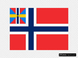 Historical Norwegian Flag