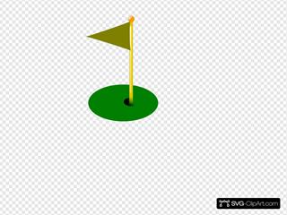 Golf Flag 11th Hole