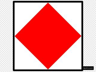 Signal Flag Foxtrot SVG Clipart
