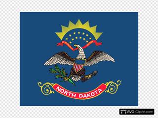 Us North Dakota Flag