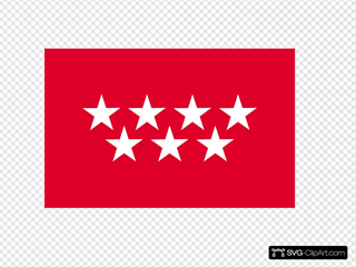 Flag Of The Community Of Madrid