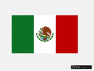 Flag Of Mexico Clipart