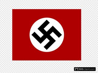 Bluten Swastika Nazi Flag