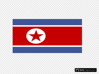 Flag Of North Korea Clipart