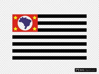 Flag Of The State Of Sao Paulo