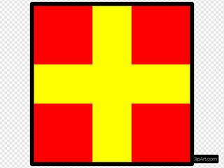 Signal Flag Romeo SVG Clipart