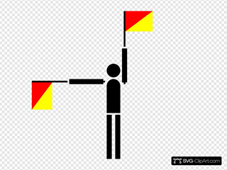 Man With Flags