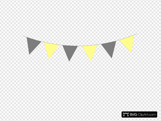 Yellow Gray Bunting Flags