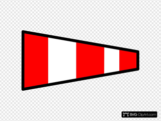 Red And White Striped Signal Flag