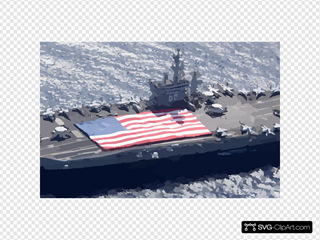 Uss Nimitz (cvn 68) And Carrier Air Wing Eleven (cvw-11) Personnel Participate In A Flag Unfurling Rehearsal