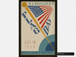 Elmhurst Flag Day, June 18, 1939, Du Page County Centennial  / Beauparlant.
