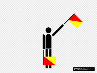 Naval Semaphore Flag E