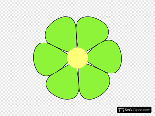 Light Green Flower Clipart