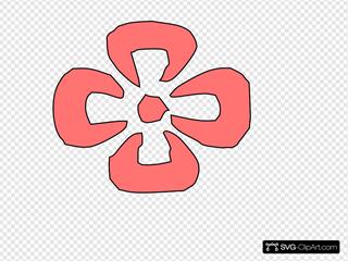Japanese Decorative Red Flower