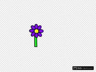 Purple Flower With Stem