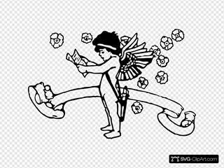 Cupid With List Illustration