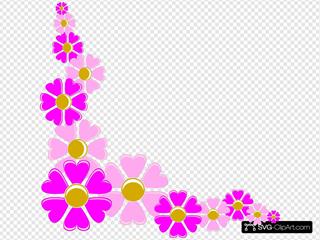 Floral Decorative Corner SVG Clipart