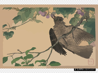 Birds-and-flowers Print.