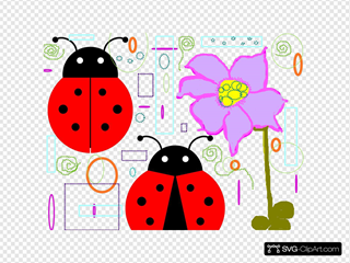 Lady Bugs With Doodles