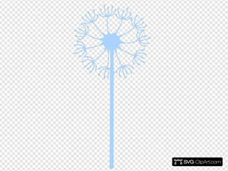 Dandilion Blue Flower SVG Clipart
