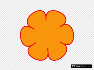 Orange Red Flower