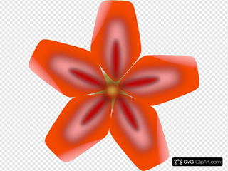 Atulasthana Red Flower SVG Clipart