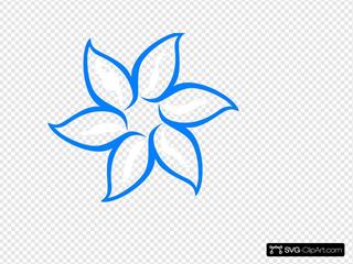 Blue Flower Outline
