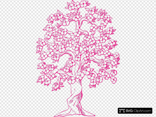Pink Tree Clipart