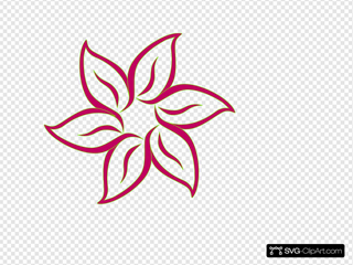 Pink Flower SVG Cliparts