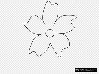 Big Flower Curvy Petals