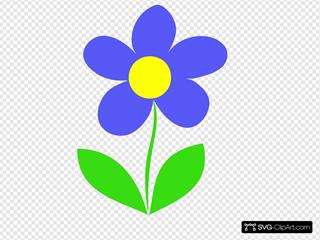 Blue Flower Letter B