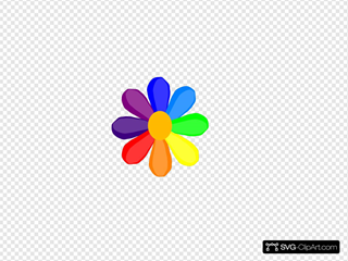 Bright Rainbow Daisy Clip art, Icon and SVG - SVG Clipart