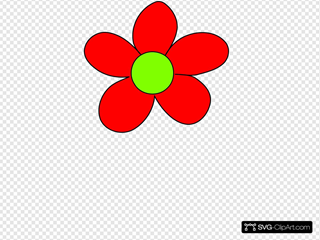Red Flower SVG Clipart