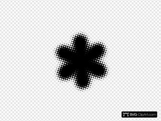 Black Flower Outline