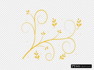 Yellow Flower Swirl