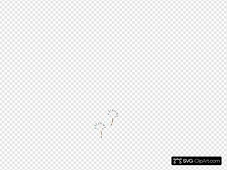 Flying Dandilion Robin Egg Blue  SVG Clipart