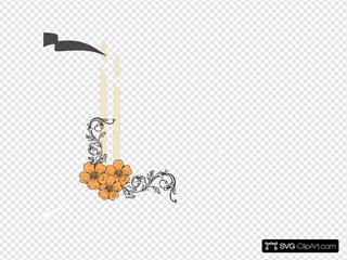 Candles Peach Flower