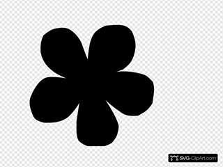 Daisy Silhouette Clip art, Icon and SVG - SVG Clipart