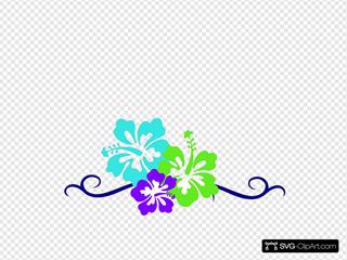 Hibiscus Swirl Border